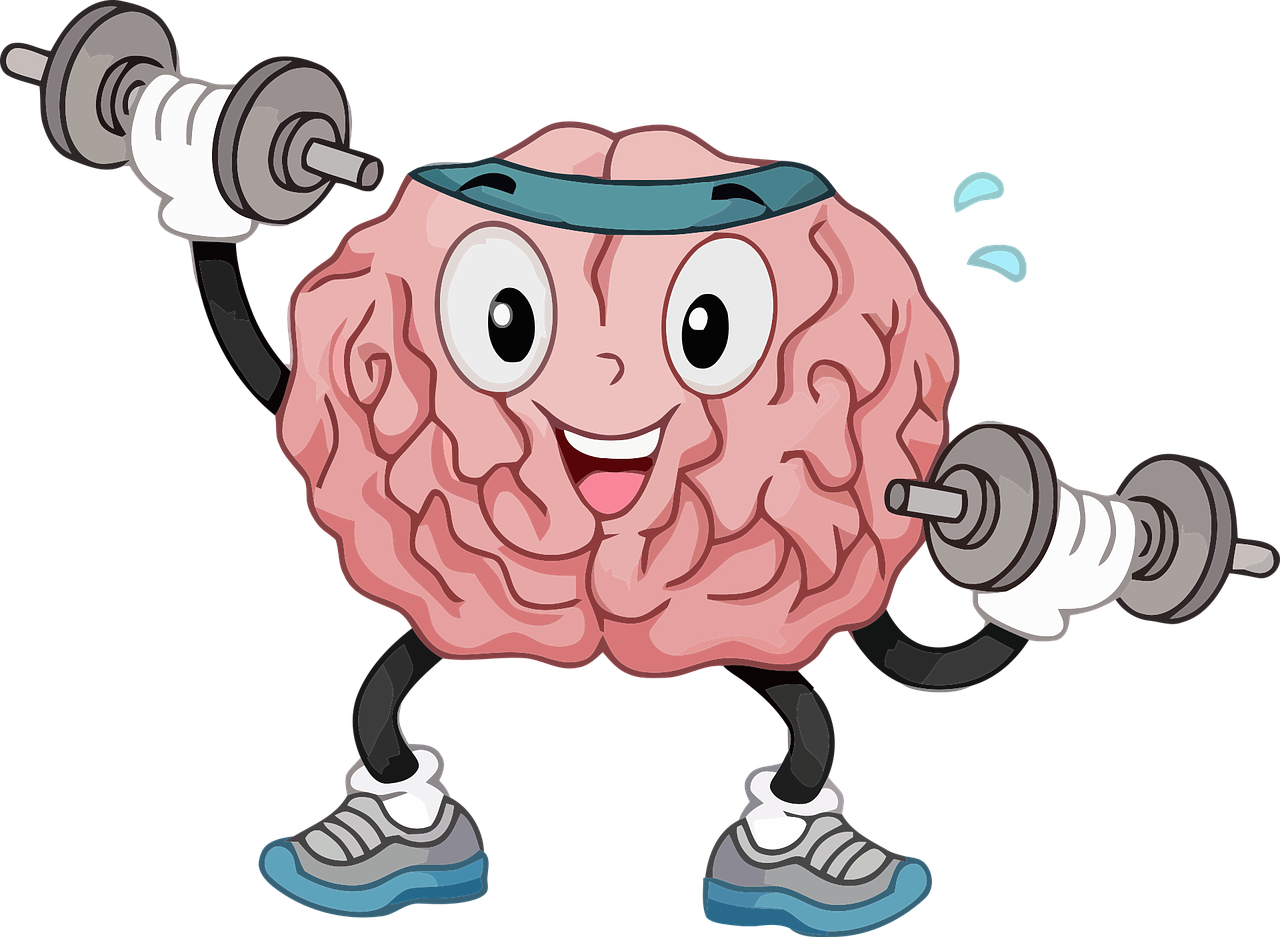 Fun graphic of brain working out
